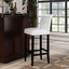 Tender Modern Button-tufted Faux Leather Bar Stool w/ Foot Stretcher, White