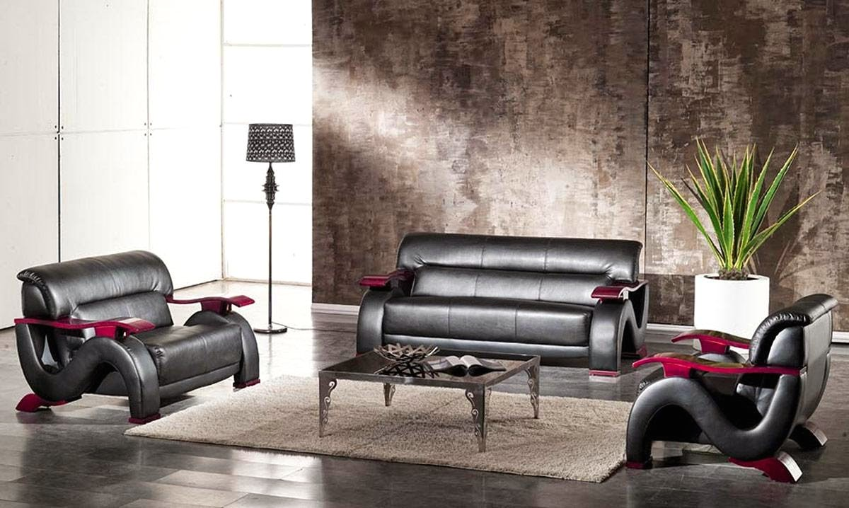 Thad Black Ultra Modern Formal Living Room Sets With