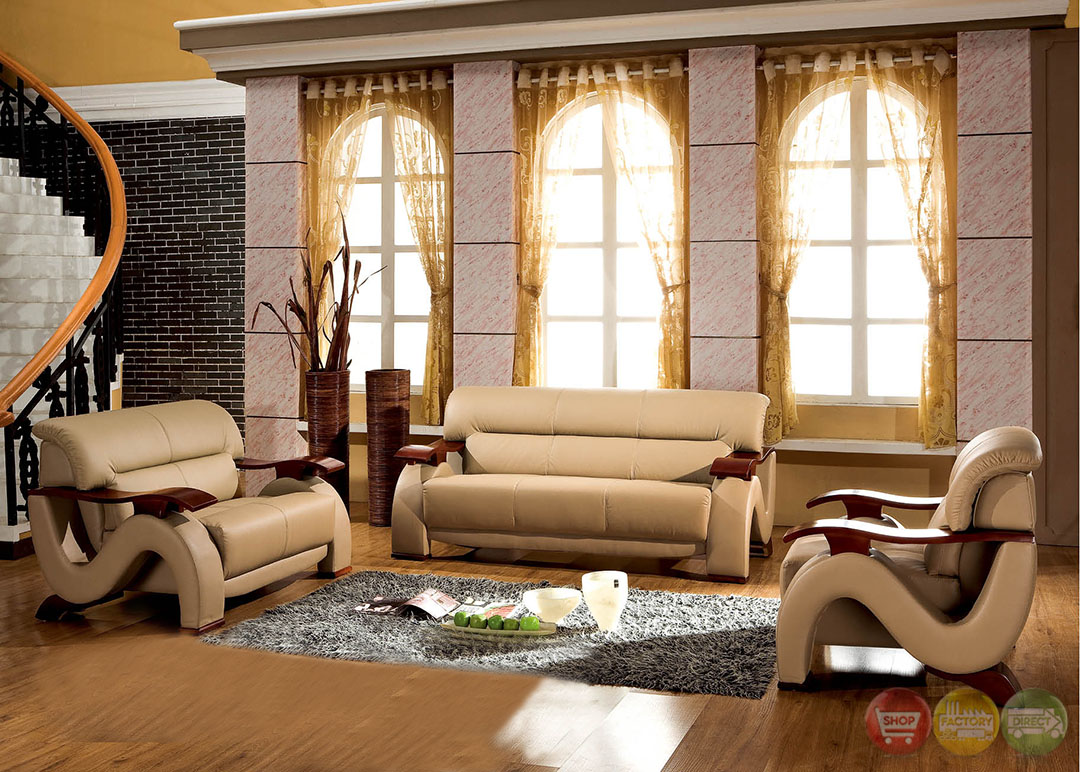 Thad Camel Ultra Modern Formal Living Room Sets With