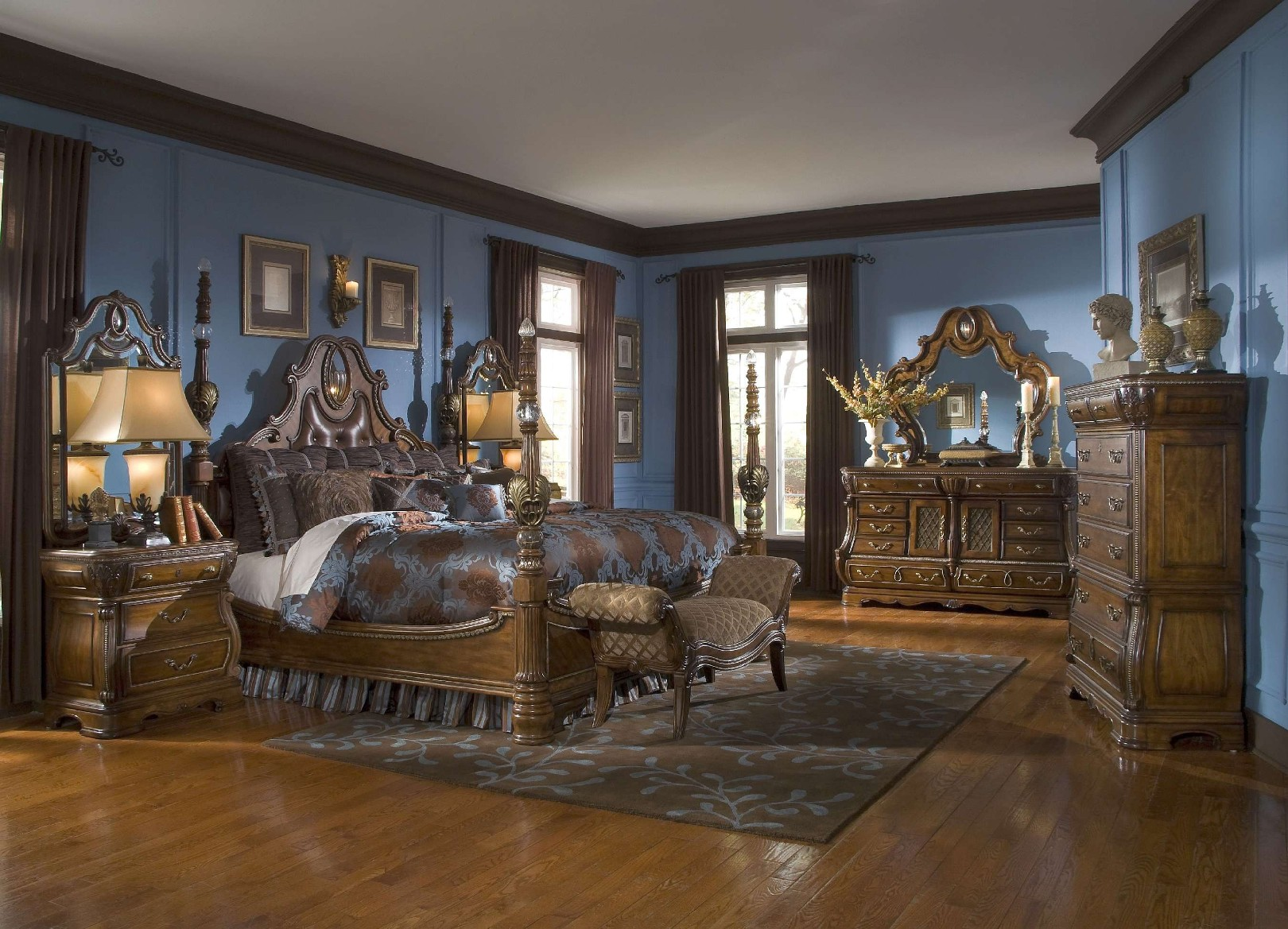 michael amini the sovereign soft mink traditional bedroom set by aico