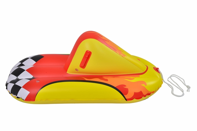 Thunderbolt 44 Inch Heavy-Duty Snow Rider Tube Inflatable Sled with Handles