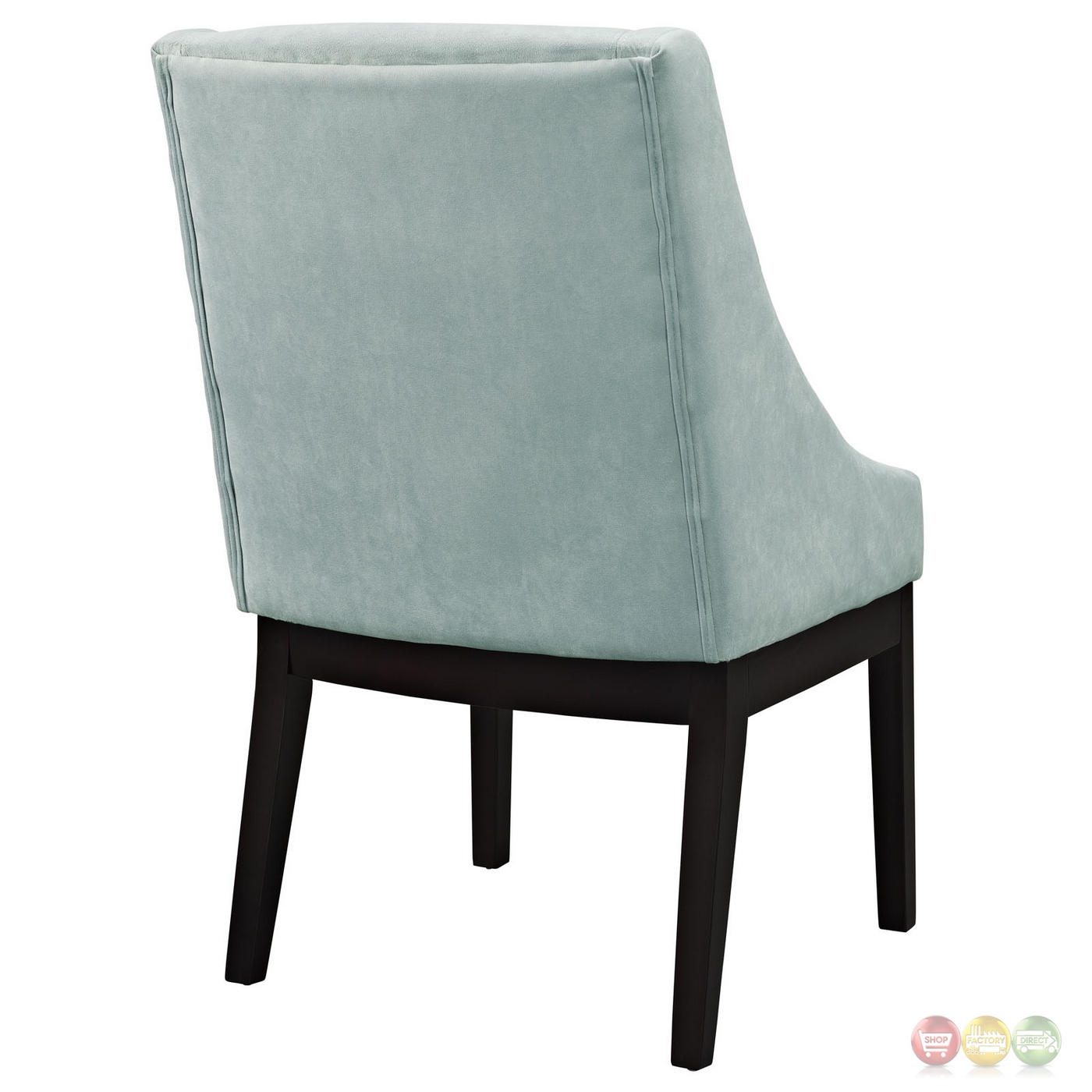 Wonderful image of  Suede like Upholstered Dining Side Chair w/ Wood Legs Light Blue with #A48627 color and 1400x1400 pixels