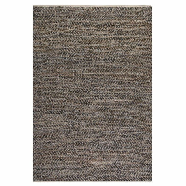 Tobais Recycled Leather Hand Loomed Rug 71001