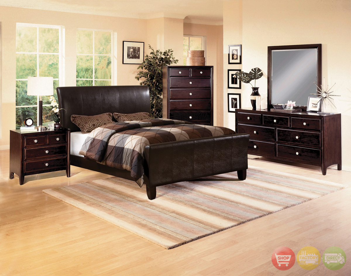 tomas upholstered low profile bed contemporary bedroom set
