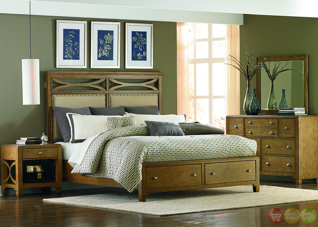 town and country distressed finish storage bedroom set