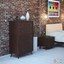 Tracy Mid-century Vintage 5-drawer Wood Chest, Cappuccino