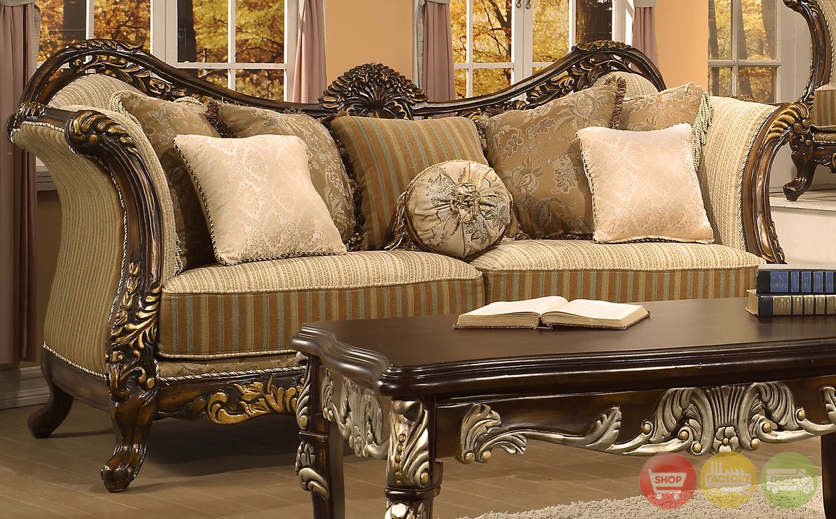 Traditional Antique Style Formal Living Room Furniture Set HD 266 KD