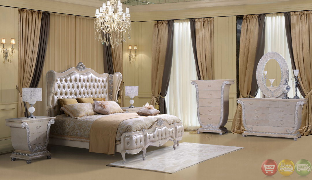 traditional button tufted sweetheart queen size bedroom set on sale