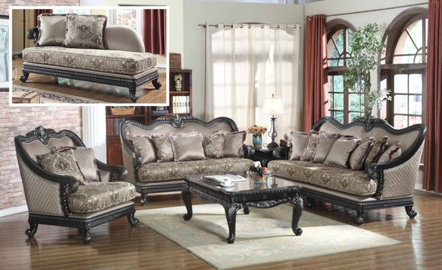 traditional european design formal living room luxury sofa set dark