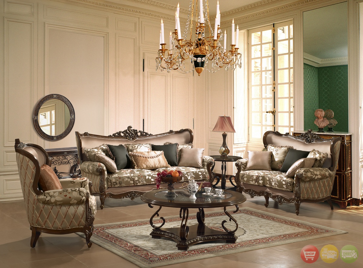 Traditional European Design Formal Living Room Set w ...
