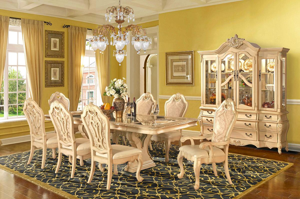 Beige Formal Dining Room Set Homey Design|Free Shipping ...