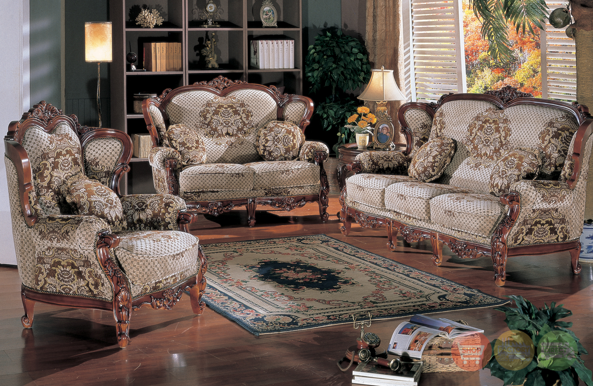 Traditional French Luxury Formal Living Room Furniture Collection HD