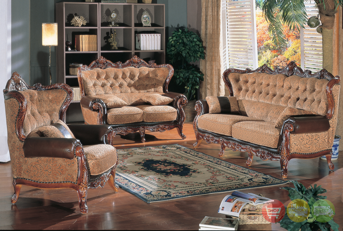 Traditional Luxury Formal Living Room Furniture Sofa Set HD 201 KD