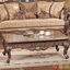 Traditional Formal Living Room Sofa Set Medium Cherry Carved Wood Accents