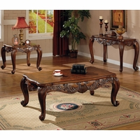 Traditional Style Occasional Coffee/Cocktail Table & End Table Set