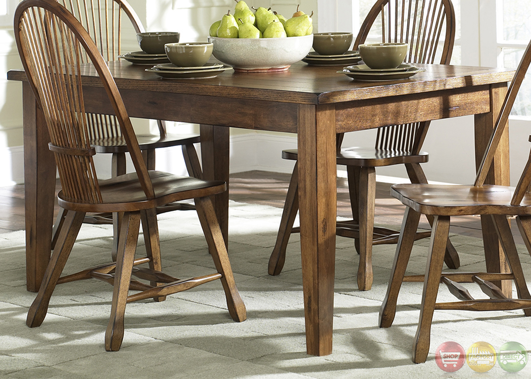Treasures Rustic Oak Finish Casual Dining Furniture Set. Full resolution  img, nominally Width 1080 Height 771 pixels, img with #919437.