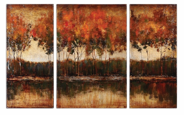 Trilakes Set of 3 Stretched Canvas Art 34207