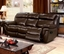 Tristin Transitional Brown Top Grain Leather Reclining Sofa & Loveseat