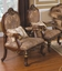 Tuscan Villa Antique Style Traditional Formal Sofa Set