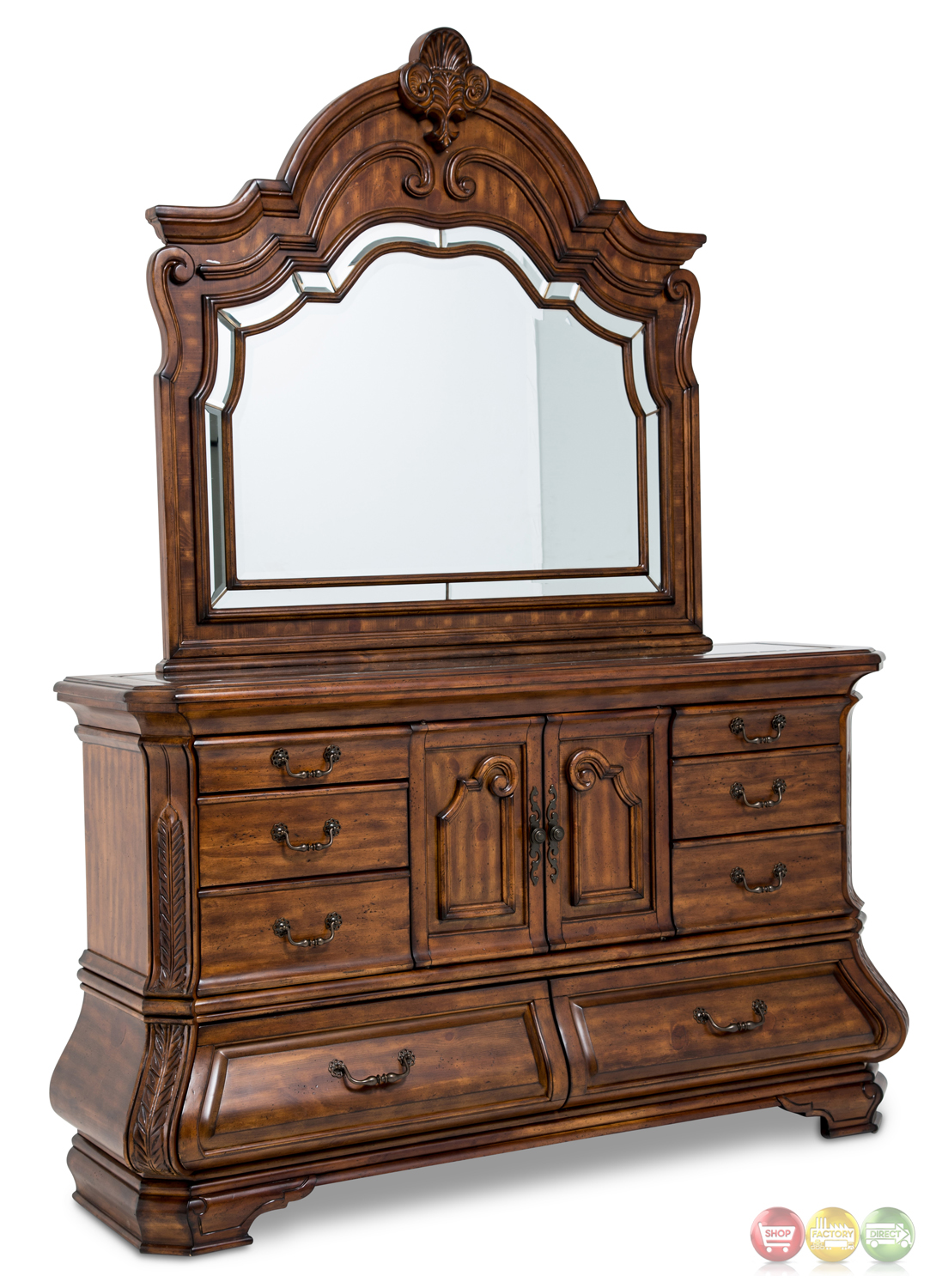 Tuscano Melange Luxury Traditional King Bedroom Furniture