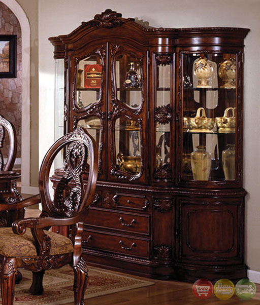 Antique Tuscan Formal Dining Room Tuscany Antique Cherry Formal Dining Set Double Pedestals CM3845P