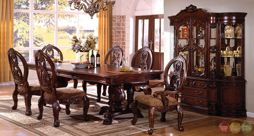 Tuscany I Elegant Antique Cherry Formal Dining Set with  : tuscany i elegant antique cherry formal dining set with double pedestals cm3845p 31 from shopfactorydirect.com size 1080 x 578 jpeg 248kB