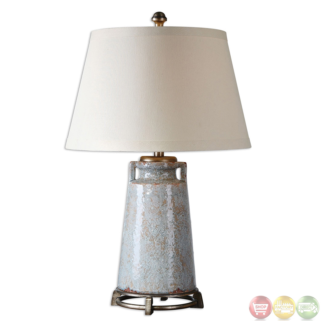 caminata light blue textured ceramic table lamp 26557. Black Bedroom Furniture Sets. Home Design Ideas
