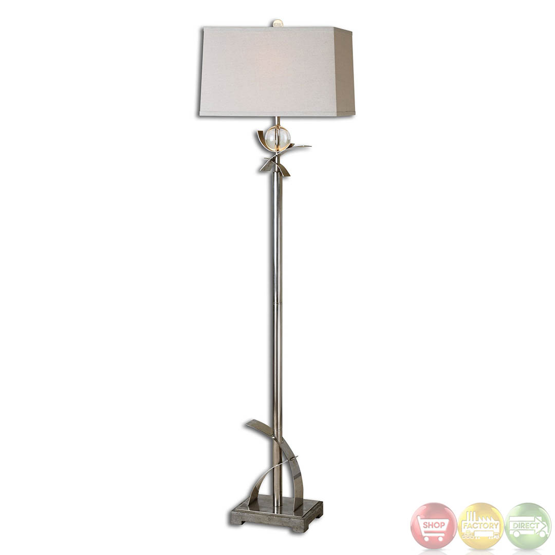 Cortlandt Curved Metal Contemporary Design Floor Lamp 28723