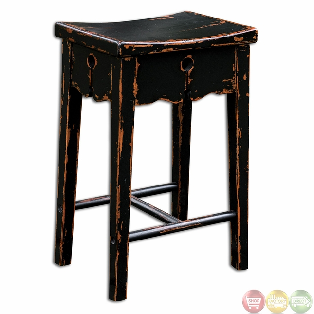 Uttermost Dalit Country Rustic Counter Stool 25624