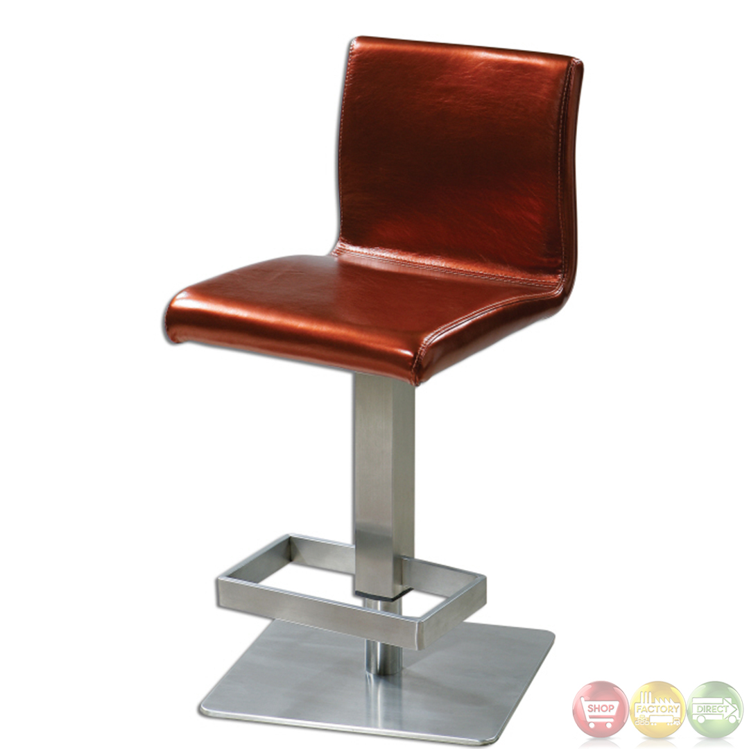 Dia Contemporary Swivel Copper Amp Chrome Barstool 23144