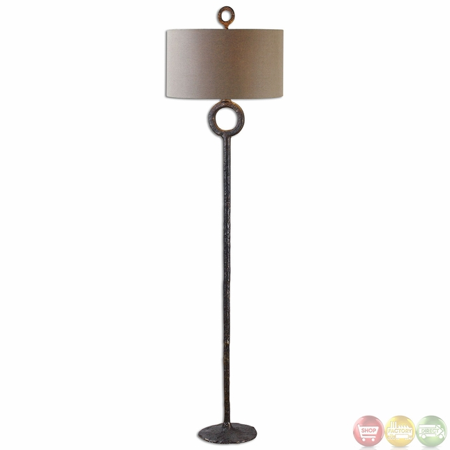 ferro hammered cast iron traditional style floor lamp 28633. Black Bedroom Furniture Sets. Home Design Ideas