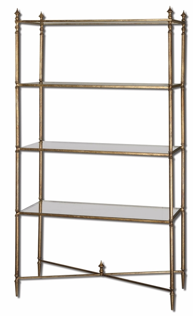 Henzler Vintage Style Mirrored Glass Etagere 24277