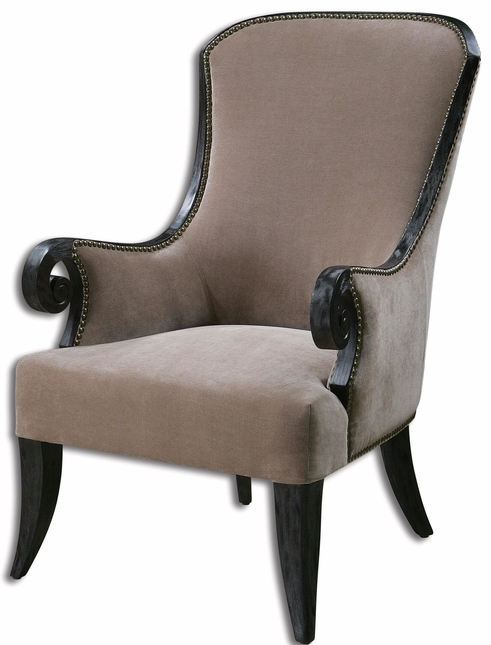kandy stain resistant fabric wood frame armchair 23113