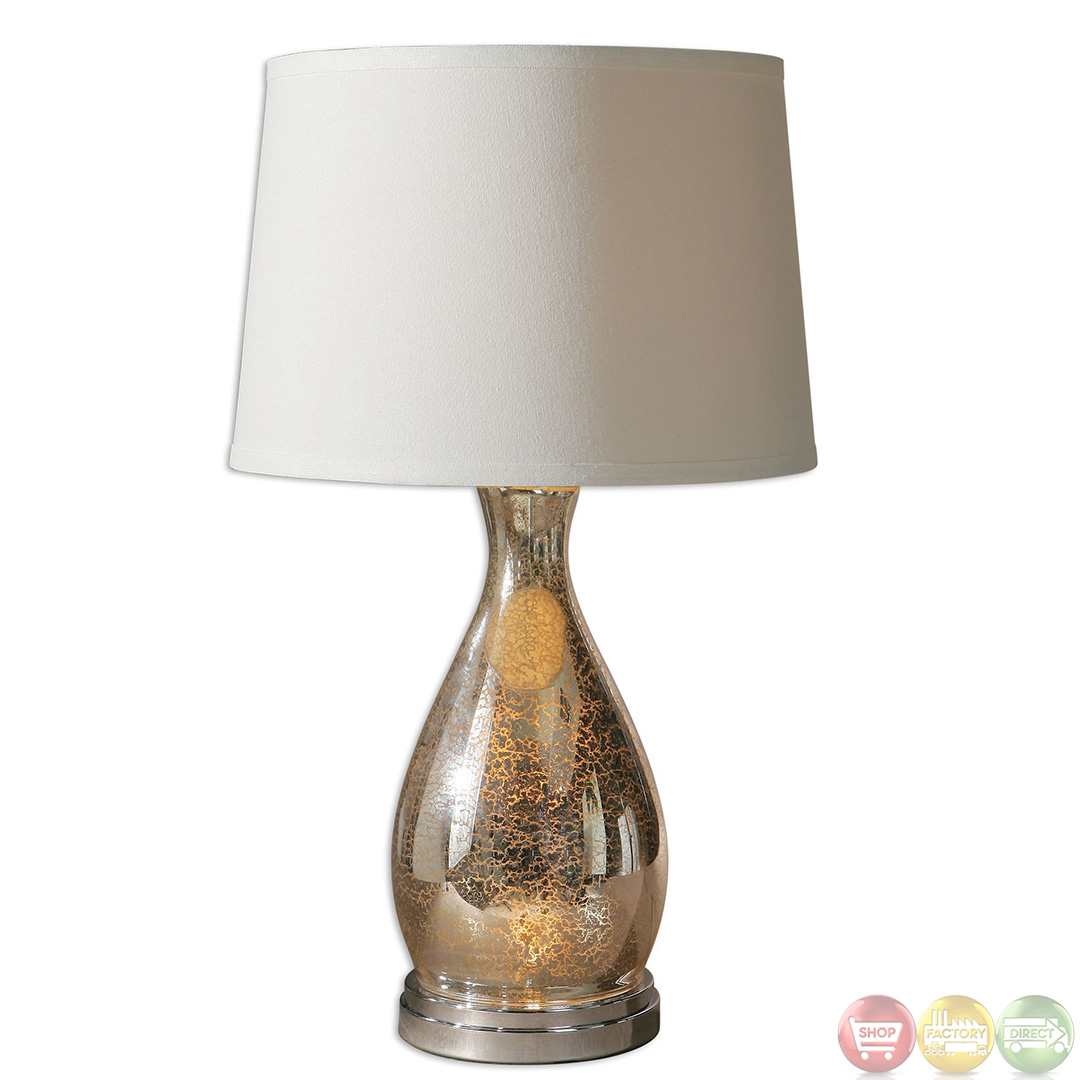 sardinia silver mercury glass table lamp 26574. Black Bedroom Furniture Sets. Home Design Ideas