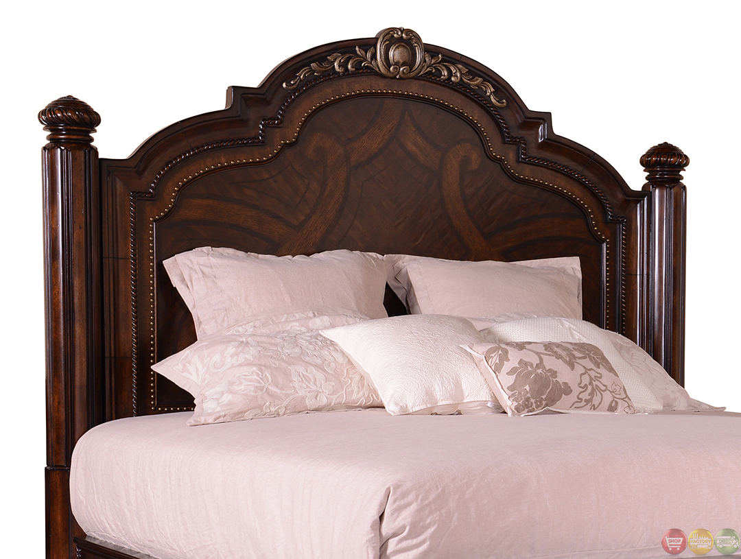 Valencia Traditional Carved Wood Panel California King Bed