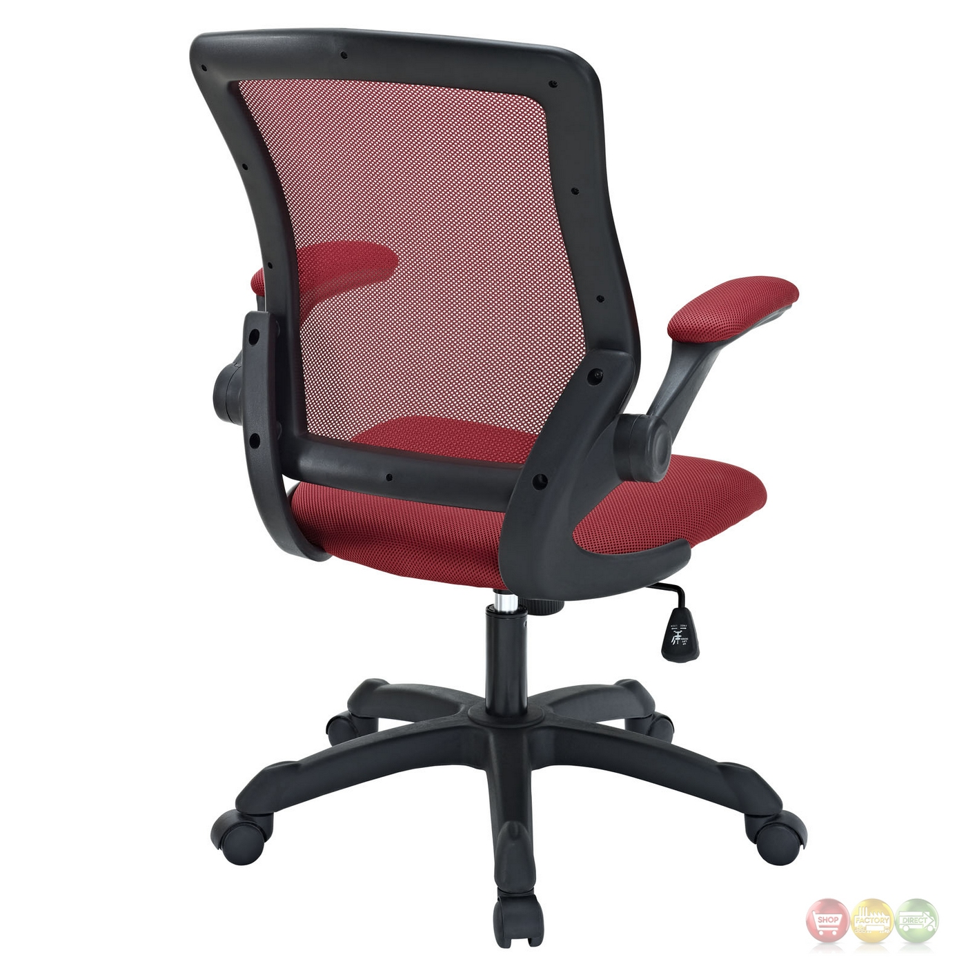 Veer Contemporary Ergonomic Mesh Multi Function Office Chair Red
