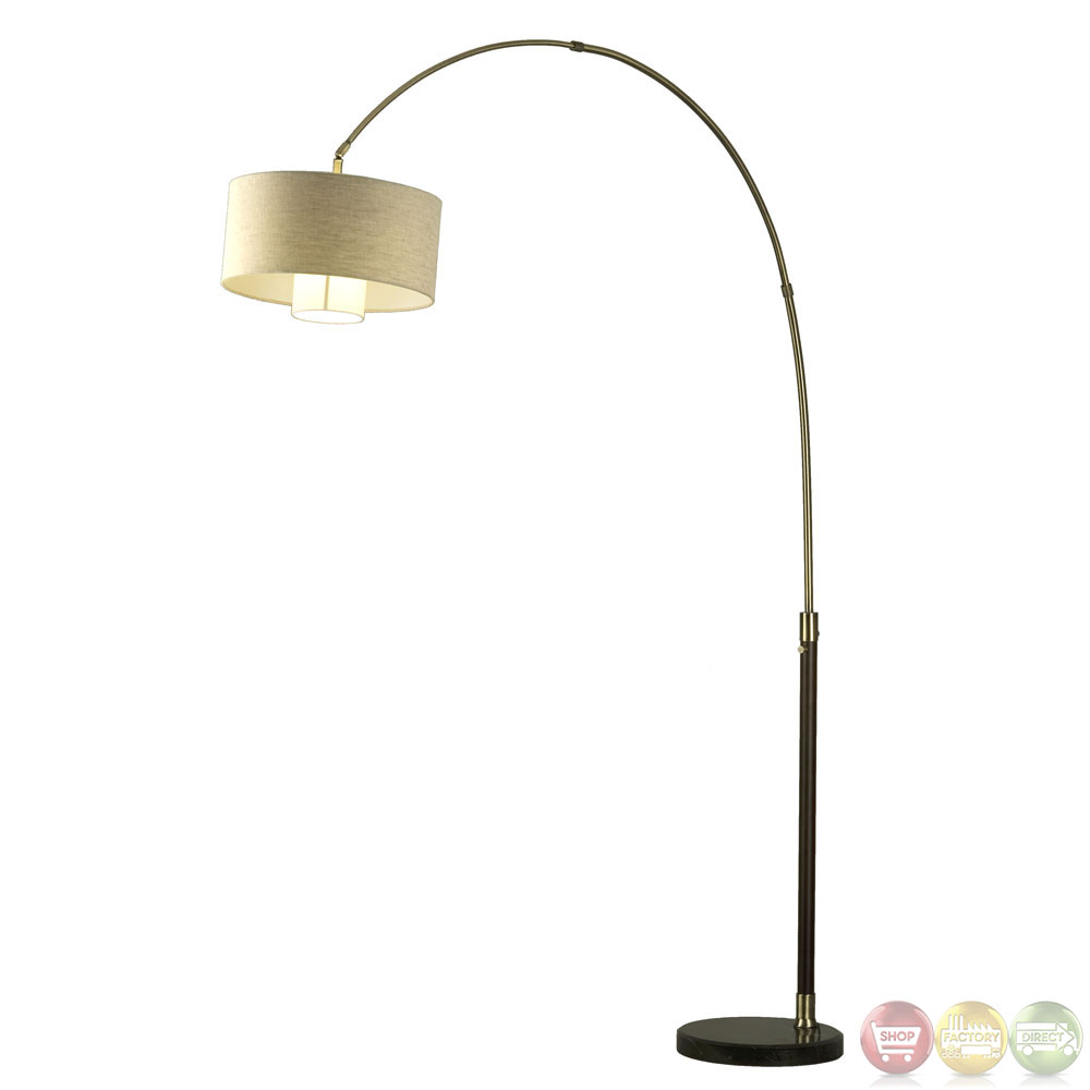 veld weathered brass contemporary arc floor lamp 2110178. Black Bedroom Furniture Sets. Home Design Ideas