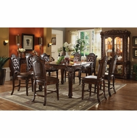 "Vendome 5pc Formal 54"" Square Counter Height Dining Table Set In Cherry"