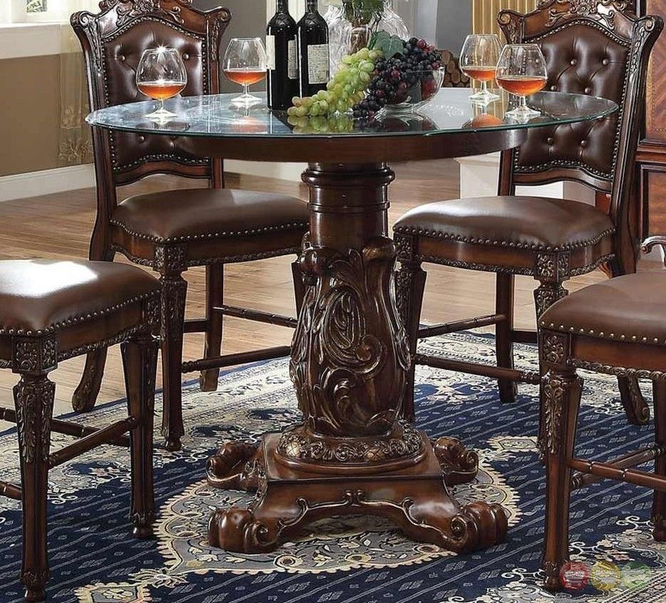 """Round Formal Dining Table: Vendome Formal 48"""" Round Counter Height Dining Table In"""