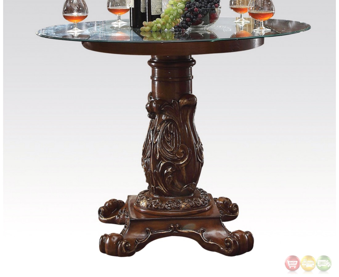 Vendome Formal 48 Round Counter Height Dining Table In Brown Cherry