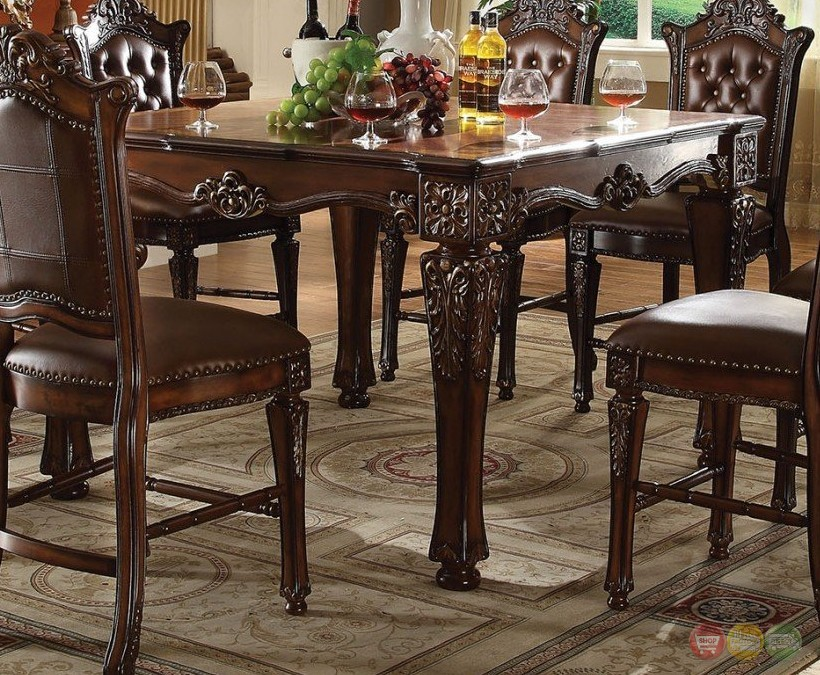 Vendome Formal 54quot Square Counter Height Dining Table In  : vendome formal 54 square counter height dining table in brown cherry 9 from shopfactorydirect.com size 820 x 675 jpeg 231kB