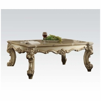 Vendome II Traditional Coffee Table In Gold Patina And Bone White