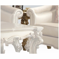 Vendome II Traditional End Table In Gold Patina And Bone White