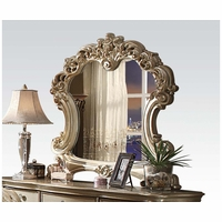 Vendome Traditional Beveled Mirror With Gold Patina And Carved Details