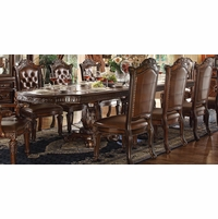 "Vendome Traditional Formal Double Pedestal 94""-136"" Dining Table In Cherry"