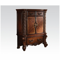 Vendome Victorian Cherry 3-Drawer Chest With Ornate Scrolled Details