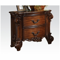 Vendome Victorian Cherry Nightstand With Ornate Scrolled Details