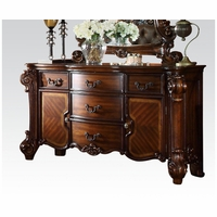 Vendome Victorian Ornate 5-Drawer Dresser With Cabinets In Cherry