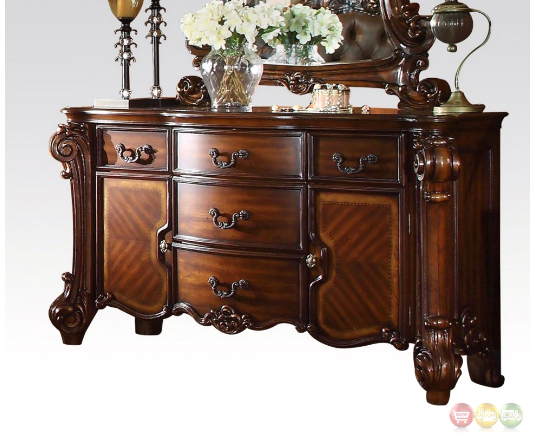 Vendome Victorian Ornate 5-Drawer Dresser With Cabinets In ...