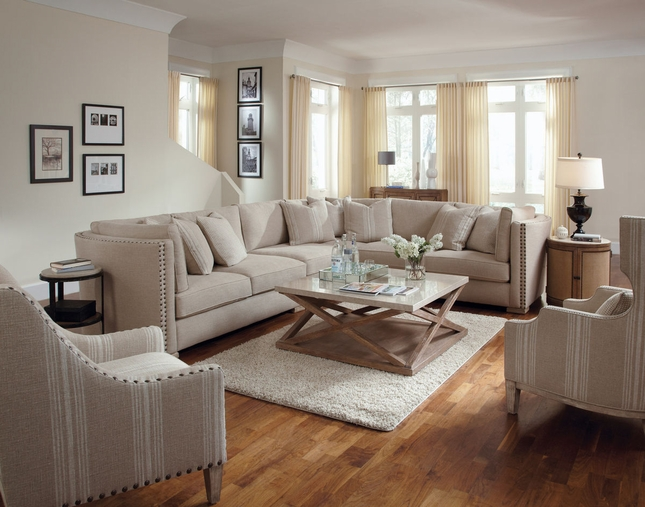 Ventura Madison Natural Sectional Sofa Living Room Furniture Set A.R.T.
